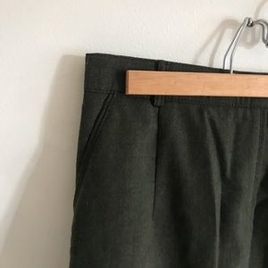 gelco Skirts - 100% wool olive green skirt